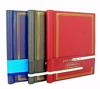 Self Adhesive Large Photo Albums Totalling 60 Sheets 120 Sides Album X 3 • 14.99£