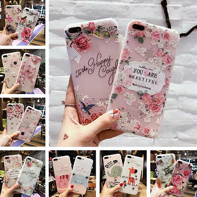 AU4.29 • Buy For IPhone XS Max XR 7 6s Retro Flower Letters Cute Animal Soft Girl Case Cover