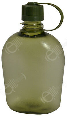 AU31.95 • Buy Transparent Green WATER BOTTLE - 1 Litre Modern Military Style Drinking Canteen
