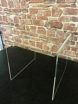 £35.75 • Buy Clear Acrylic/ Perspex Table, Bedside Table, Coffee Table, End Table, Side Table