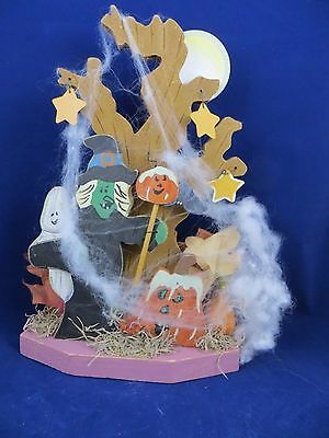 $5.75 • Buy HALLOWEEN Wooden Table   Decoration Witch,Ghost ,Pumpkin 8  X  11  Tall  CUTE