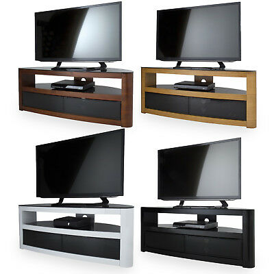 AVF Burghley Wood Gloss Corner Glass TV Stand  For 42  - 65  LED CURVE OLED LCD • 279£