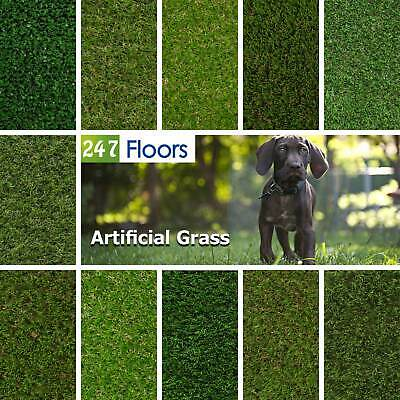 £0.99 • Buy Artificial Grass, Quality Astro Turf, Cheap, Realistic Natural Green Lawn Garden