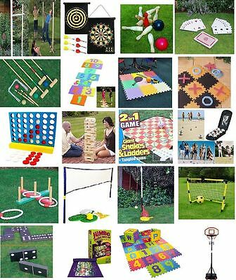 New Family Party In/Outdoor Games Summer Bbq Garden Lawn Fun Small & Giant • 7.95£