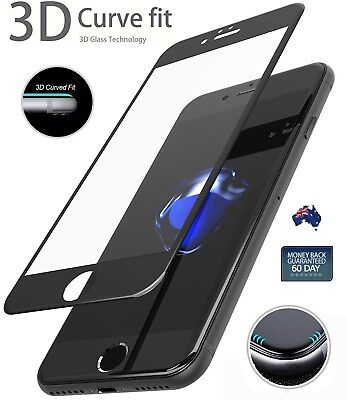 AU4.76 • Buy 3D Full Coverage Tempered Glass Screen Protector For IPhone 8 7 6 6S Plus