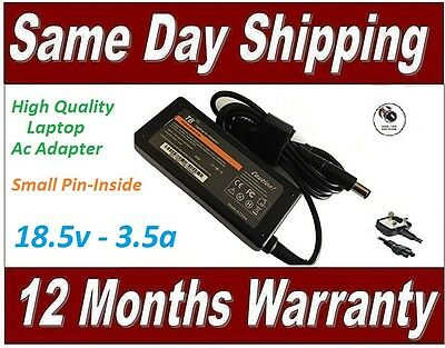 £16.99 • Buy HP Compaq 18.5v 3.5a Laptop Ac Adapter Charger Replacement 65W + UK Power Cord