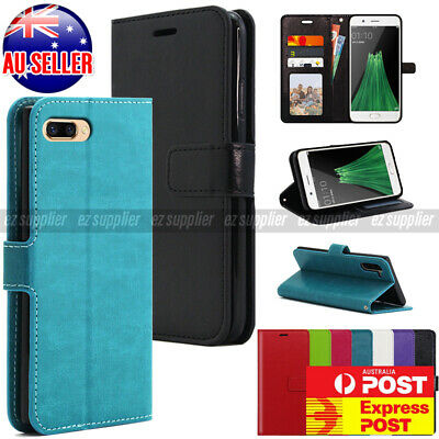 AU16.58 • Buy Oppo R11 R9s Plus F1s Case, Quality Slim Wallet Flip Leather Pocket Cover