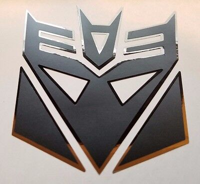 $7.50 • Buy Transformers Decepticon Megatron Decal Sticker Flat Black W/ Chrome