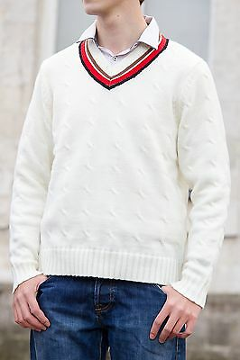 Fifth Doctor Cricket Sweater Costume Cosplay 5th Doctor Doctor Who Jumper • 29.99£