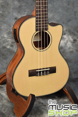 AU397.58 • Buy New Kala KA-STGE-C Cutaway Tenor Ukulele With Solid Spruce Top & Pickup - Gloss
