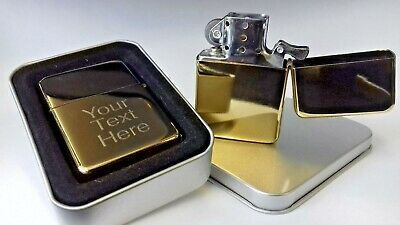 £5.49 • Buy Engraved GOLD Personalised Star Lighter Petrol Birthday Christmas Name Gift