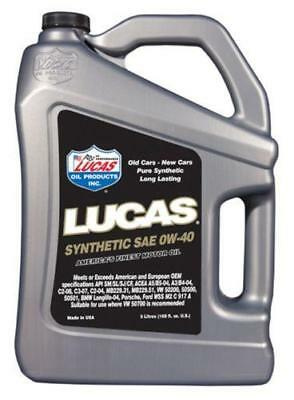 LUCAS OIL Fully Synthetic 0W40 Car Motor Engine Oil - 5 Litres - 10327A • 41.99£