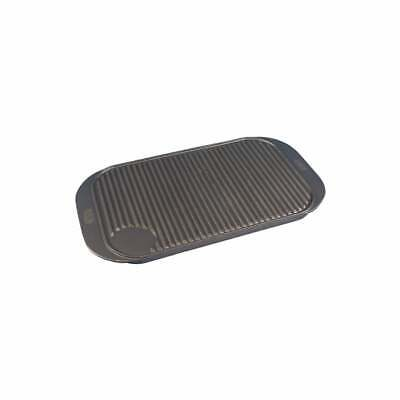Cast Iron Griddle Tray Reversible Plate Large 19  X 10  Grill Pan Tray BBQ  • 21.99£