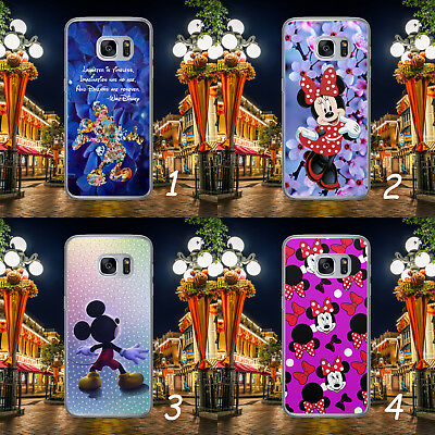 Disney Mickey Minnie Mouse Patern Quote Hard Phone Case Cover For Samsung Huawei • 4.99£