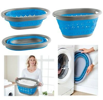 £11.90 • Buy Collapsible Laundry Basket Washing Clothes Bin Space Saving Foldable Storage New