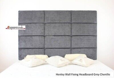 Henley Wall Fixing Headboard. All Sizes & Colours Esupasaver Huge Sale • 105£