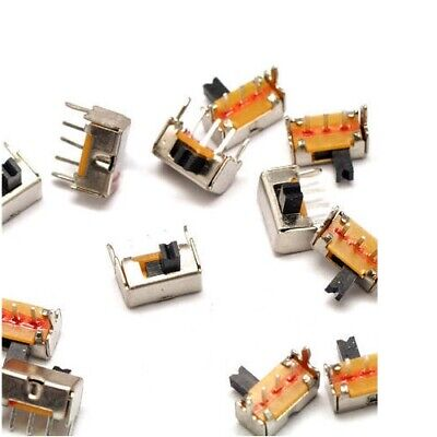 $5.95 • Buy 10x Side Slide Switch Mini Small Tiny 4mm ON/OFF Switches 3-Pin DC 50V 0.5A