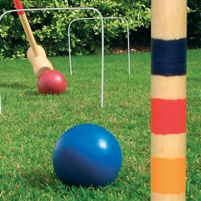 £17.95 • Buy New Croquet Set 4 Player Garden Game Wooden Hoops Mallets Toy Balls Family Fun