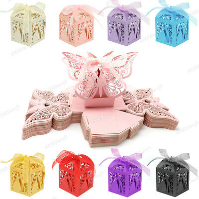 £12.99 • Buy 20-100 Luxury Boxes Wedding Party Favour Laser Cut Sweets Cake Candy Gift Favor