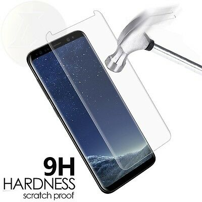 AU3.44 • Buy  Samsung Galaxy S8 Clear Tempered Glass Screen Protector Case Friendly 3D...