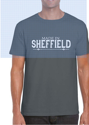 Made In Sheffield   Vintage Retro Yorkshire Gift Graphic T-Shirt • 8.99£