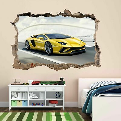 Supercar Fast Sports Car Wall Stickers Mural Decal Self-adhesive Poster CB6 • 14.99£
