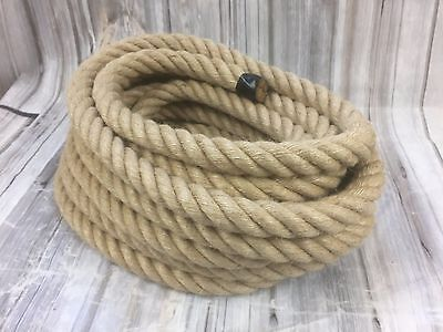 Natural Jute Rope Twine Cord Strand Twisted Decking Garden Boat Sash Tag Of War  • 6.99£