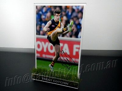 AU119.99 • Buy ✺Signed & Framed✺ TRENT COTCHIN Photo COA Richmond Tigers AFL 2017 2019 Jumper