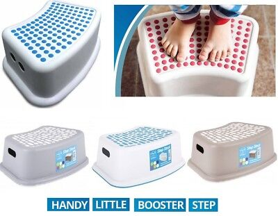 Booster Step Stool Non Anti Slip Toilet Potty Training Kids Children Bathroom • 6.95£