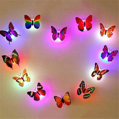 AU1 • Buy 3D Butterfly LED Light Art Design Decal Wall Stickers Home Mural Room Decor