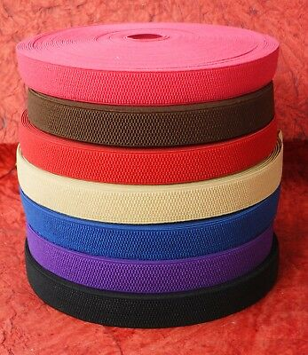 £2.49 • Buy 25mm & 50mm WIDE ELASTIC HONEYCOMB Strap Tape Stretch Belt Knit Sewing Waistband