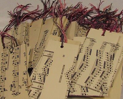 £7.99 • Buy **40  X Vintage Music Paper. Alternative ORGANZA GIFT BAGS. Hand Made. LARGE