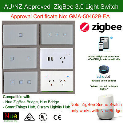 AU65 • Buy AU Approved ZigBee Smart Light Switch Dimmer GPO 4 Alex Google Home Voice Contro