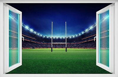 £14.99 • Buy Rugby Stadium Wall Art Sticker Mural Decal Kids Bedroom Home Office Decor BD66