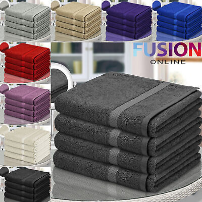 View Details Pure 100% Egyptian Cotton Bathroom Towels Bath Sheet Bale Set Super Soft 500 Gsm • 14.49£