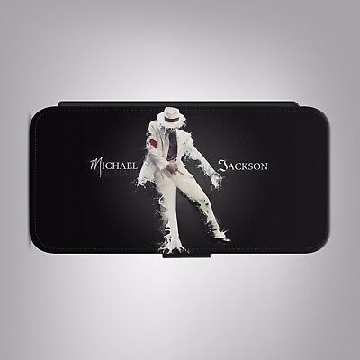 £8.88 • Buy Michael Jackson King Of Pop LEATHER FLIP PHONE CASE COVER Fits IPHONE SAMSUNG