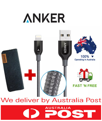 AU28.50 • Buy Aussie Seller Anker PowerLine+ II Lightning Type-C Fast Cable 90cm 180cm 3ft 6ft