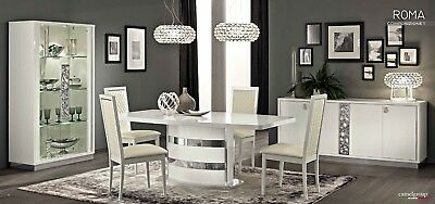 Roma Italian Luxury High Gloss Living & Dining Room Furniture • 395£