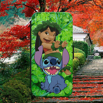 £9.99 • Buy Lilo And Stitch Ohana Family Flip Wallet Phone Case For Iphone Samsung Huawei
