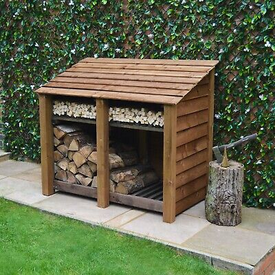 Cottesmore 4ft Outdoor Wooden Log Store ***Clearance Stock*** - UK Hand Made • 194.99£