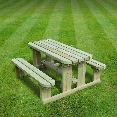 Tinwell Junior Rounded Picnic Table - Children's Bench - Heavy Duty • 184.99£