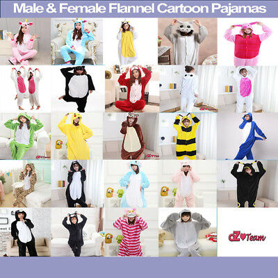 AU23.70 • Buy Adult Fleece Unisex Kigurumi Animal Onesie Pajamas Cosplay Costume Sleepwear