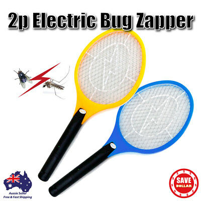 AU19.99 • Buy 2p Electric Mosquito Zapper Tennis Racket Bug Fly Insect Swatter Killer Handheld