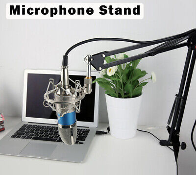 Heavy Duty Microphone Arm Stand Desk Suspension Boom Desktop Mic Holder Mount UK • 7.99£