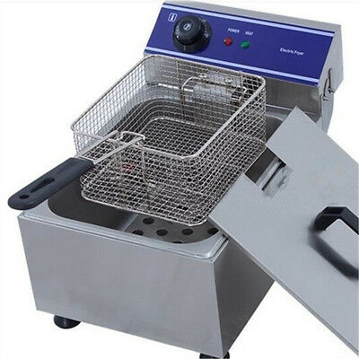 £75 • Buy 10L Electrical Deep Fryer Commercial Basket Stainless Steel Tank Fat Chip 6L Oil