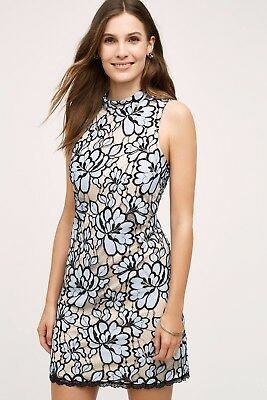 $ CDN120 • Buy NWT Tracey Reese Anthropologie Lin Lace Dress 10P - Blue