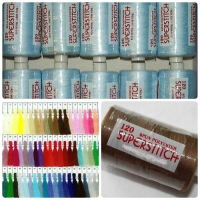 Superstitch 500 Yards Single Reel Sewing Machine Polyester Thread - £1.25 / Reel • 1.25£