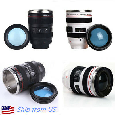 $10.98 • Buy Camera Lens 24-105mm Travel Coffee Mug / Cup With Drinking Lid Best Gift