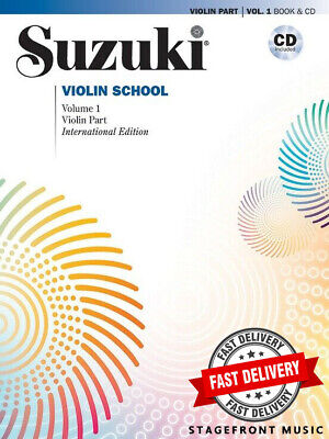 AU39.90 • Buy Suzuki Violin School Volume 1 Book & Cd - International Edition - Violin Part