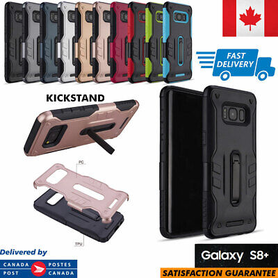 $ CDN4.97 • Buy For Samsung Galaxy S8+ Plus Case Slim Rugged Protective Defender Kickstand Cover